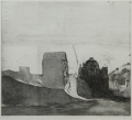 Berlin Cathedral (Berliner Dom), 1974, etching on handmade paper, 38,5 x 44 cm