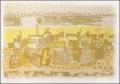 Dächerlandschaft, 1960, limitierte signierte Reproduktion von einem Aquarell aus der Serie Tunisia, (22/65), 53,2 x 71,8 cm