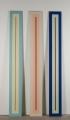 3 Luschen, 1967, Autolack auf Pressspan, 250 x 30 x 2 cm