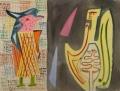 Begegnung mit dem Todesengel, 1946, Aquarell auf Bütten, 48 x 62,5 cm