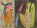 Encounter with the Angel of Death (Begegnung mit dem Todesengel), 1966, watercolor on handmade paper, 48 x 62,5 cm