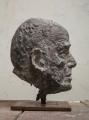Kopf Lothar C. Poll, 2016, Bronze, Höhe 35 cm