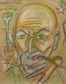 Freudiana, 2007, Wachs auf Packpapier, 100 x 78 cm