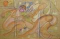 Dance/ Twist, 2007, Wachs auf Packpapier, 98 x 156 cm