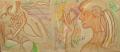Gogauin, 2007, Wachs auf Packpapier, 100 x 223 cm