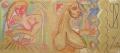 Free silly, 2007, Wachs auf Packpapier, 100 x 233 cm