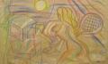 Schön VII, 2007, Wachs auf Packpapier, 98 x 156 cm