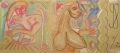 Free Silly, 2007, wax crayon on packaging paper, 100 x 233 cm