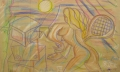 Beautiful VII (Schön VII), 2007, wax crayon on packaging paper, 98 x 156 cm