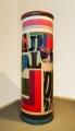 Hommage à Litfaß, 1969/70, Öl auf Holz, 230 x 75 cm