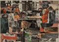 o. T. (MET), 1962, Zeitungscollage, 25 x 35 cm