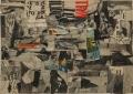 o. T., 1962, Zeitungscollage, 25 x 35 cm