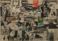 untitled, 1962, newspaper collage, 25 x 35 cm
