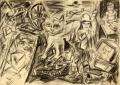 Parallelwelt, 2007, Bleistift auf Papier, 64 x 90 cm