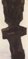 Zeuge II, 1990, Öl auf Leinwand, 200 x 90 cm