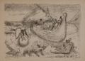 """Das Glück (Blatt II), 1948, aus der Mappe """"Zehn Lithographien"""", Lithographie auf Papier, 29,6 x 40 cm"""