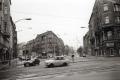 Oranienburger Straße, Friedrichstraße am 24.12.1989, aus der Serie: Berlin - offene Stadt. 100 Ansichten des Fernsehturms, s/w-Fotografie