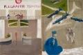 Airport (Flughafen), 1968, dispersion paint on nettle, diptych, 100 x 150 cm