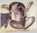 Where to Put Hands and Heads (Wohin mit Händen und Köpfen), 1985, mixed media on paper, 150 x 170 cm