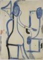 Blaue Blume, 1996, Aquarell, 59 x 42 cm