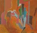 Erwartung, 1988, Acryl auf Leinwand, 45 x 50 cm