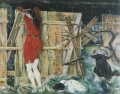 Überschwemmung, 1971, Öl auf Leinwand, 120 x 150 cm