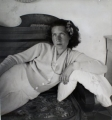 Girl Lying on a Sofa, 1940, black and white print, 40 x 40 cm