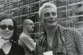 """Eröffnung der """"Schaustelle Berlin"""", Theaterfest auf dem Marlene-Dietrich-Platz, 1998, Goldprint"""
