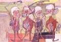Die Erfolgreichen, 1965, Blei- und Farbstift auf Papier, 46 x 65 cm