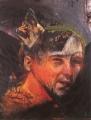 Vielleicht selbst, 1985, Mischtechnik auf Leinwand, 195 x 150 cm