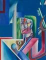 o. T., 1968, Öl auf Leinwand, 100 x 76 cm
