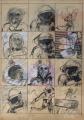 ohne Titel, 1965, Mischtechnik auf Papier,  76 x 56 cm