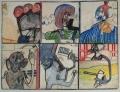 ohne Titel, 1966, Mischtechnik auf Papier,  50 x 66 cm