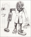 Housewife (Hausfrau), 1969, pencil and crayon on paper, 76,5 x 59,5 cm