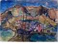 Sant'Angelo, 1938, Aquarell und Pastellkreide auf Papier, 34,5 x 48 cm