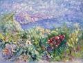 Frontonelandschaft mit Oleander, o. J., Öl auf Leinwand, 80 x 100 cm