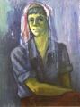 o.T., o.J., Öl auf Leinwand, 100 x 60 cm