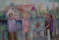 Mädchen am Schlossteich, 1930, Öl auf Leinwand, 47,5 x 66,5 cm