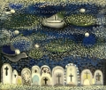 Überfahrt nach Ischia, 1950er Jahre, Öl auf Leinwand, 50 x 60 cm