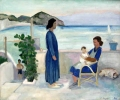 Auf der Terrasse in S. Angelo, Ischia, 1938, Öl auf Leinwand, 50 x 60 cm