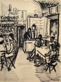 S. Angelo, Ischia (Bar), o. J., Tusche auf Papier, 43,5 x 32,5 cm