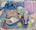 Stillleben mit Engel, 1945, Öl auf Leinwand, 50 x 59 cm