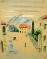 Torbole, Gardasee, o. J., Aquarell auf Papier, 30,5 x 24,5 cm