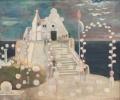 Festliche Kirche, 1952, Öl auf Leinwand, 44 x 55 cm