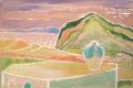 o. T. (Meeresblick), o. J., Aquarell auf Papier, 27 x 40,5 cm