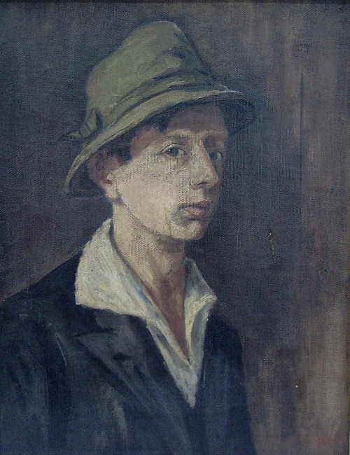 Self Portrait (Selbstbildnis), 1924, oil on canvas, 45 x 36 cm