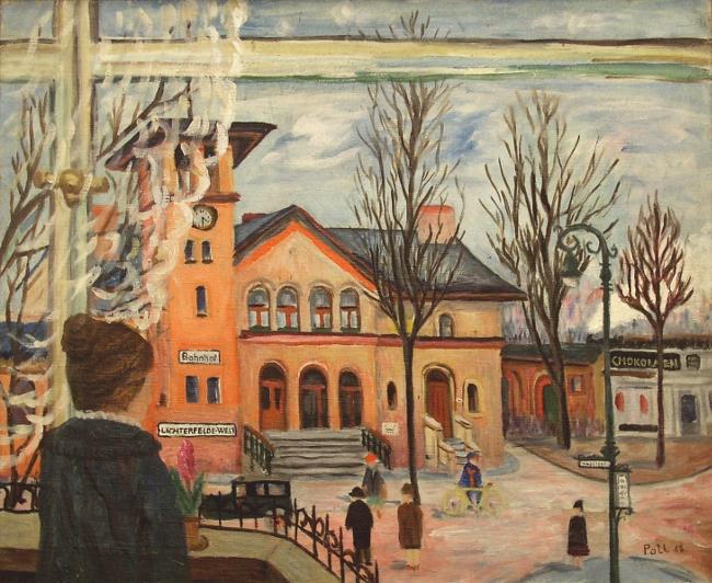 Central Station Berlin-Lichterfelde (Bahnhof in Berlin-Lichterfelde), 1928, oil on canvas, 50 x 60,5 cm