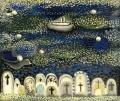 Transit to Ischia (Überfahrt nach Ischia), 1950ies, oil on canvas, 50 x 60 cm