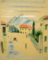 Torbole, Lake Garda, undated, water color on paper, 30,5 x 24,5 cm