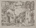 Kapelle und Brunnen in Levanto, 1965, Lithographie, 54 x 66,3 cm